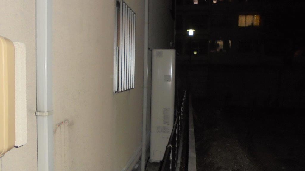 三重県東芝エコキュートHWH-B374HW施工後の写真