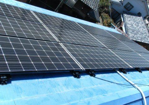 大阪府三菱太陽光パネル 14枚PV-MA2250M施工後その他の写真1