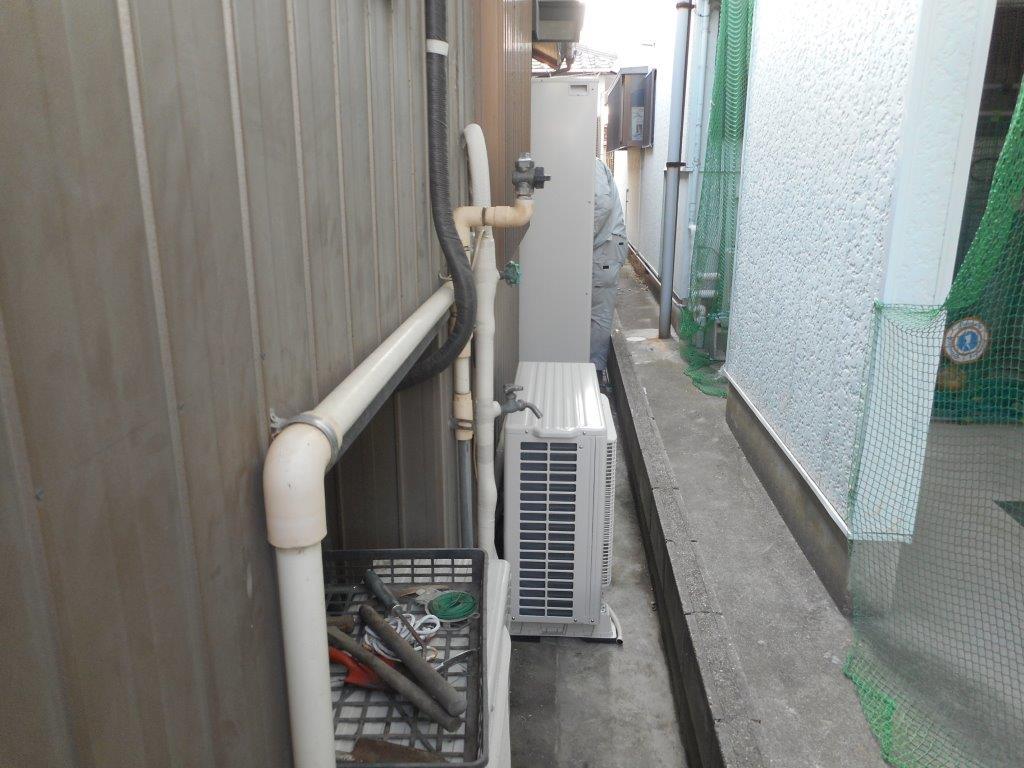 大阪府パナソニックエコキュートHE-D37FQS施工後の写真