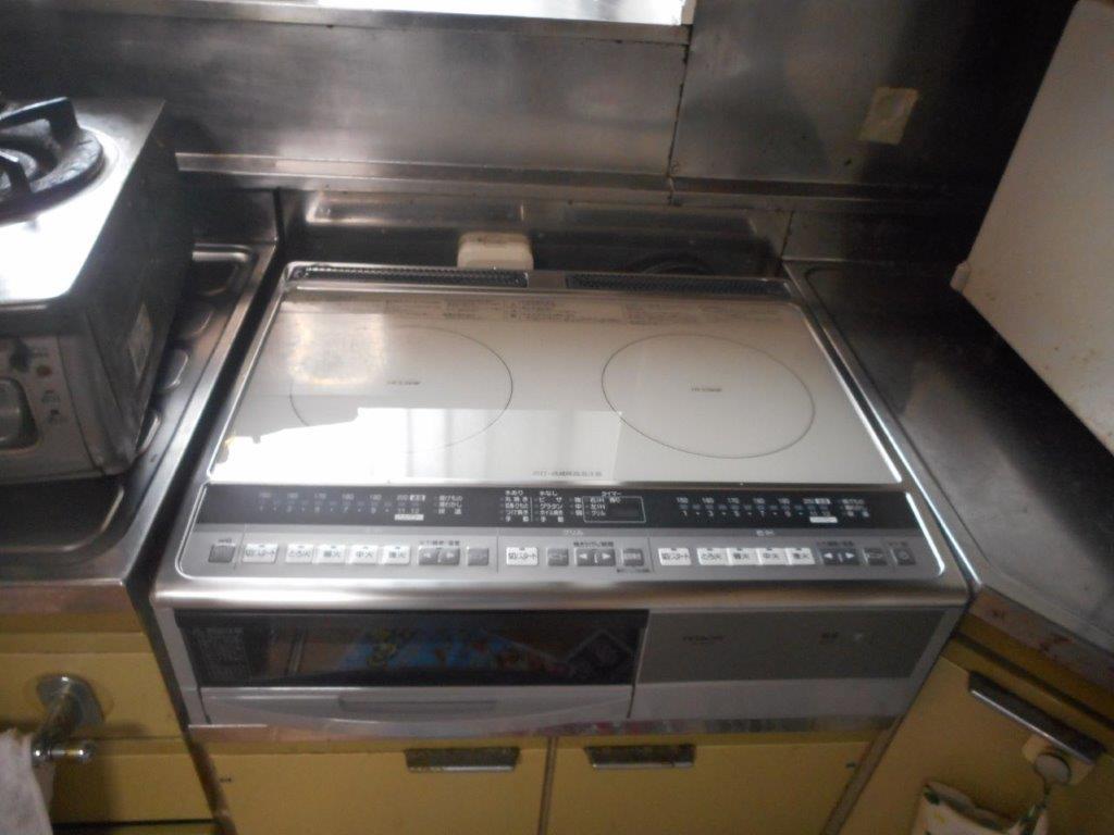 滋賀県日立IHクッキングヒーターHT-330S施工後の写真