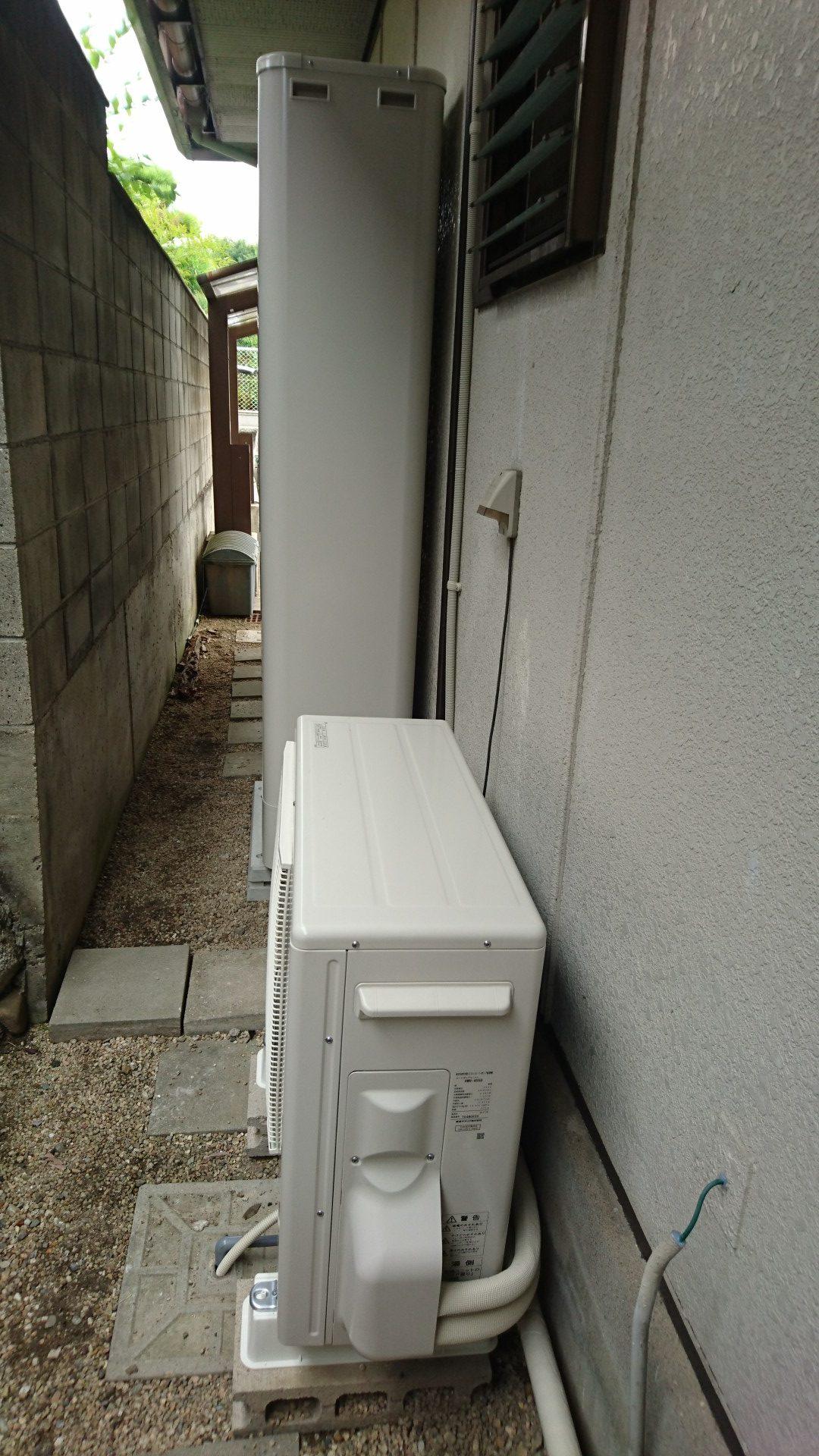滋賀県東芝エコキュートHWH-B375HW施工後の写真