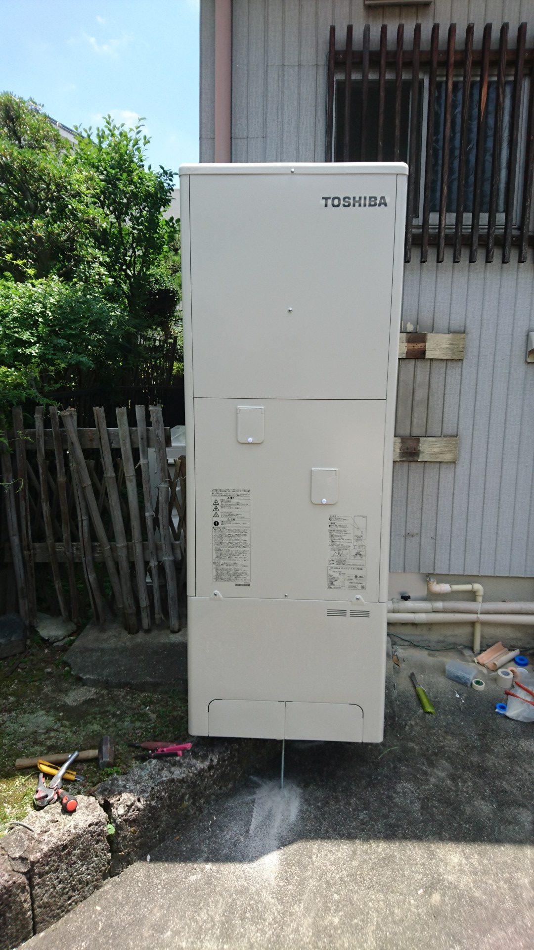 京都府東芝エコキュートHWH-F375H施工後の写真