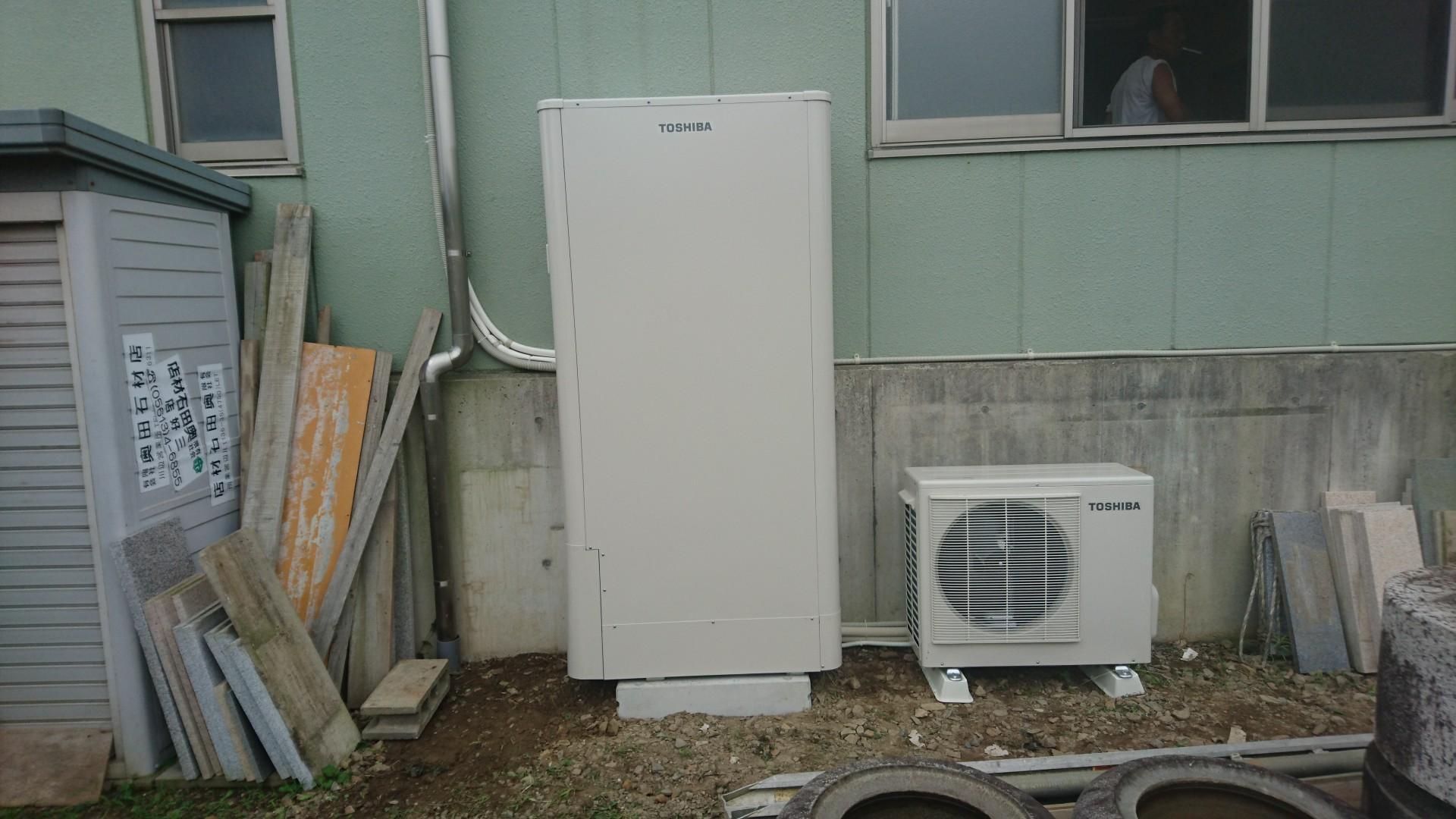 滋賀県東芝エコキュートHWH-B465H施工後の写真