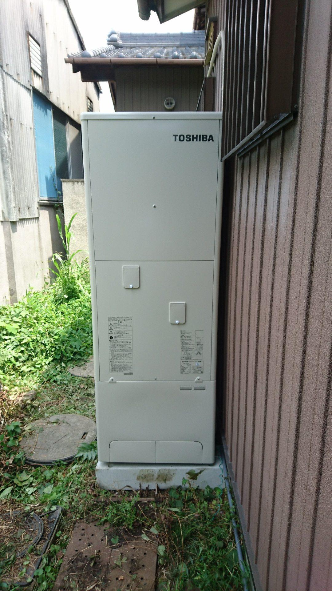 兵庫県東芝エコキュートHWH-B375H施工後の写真