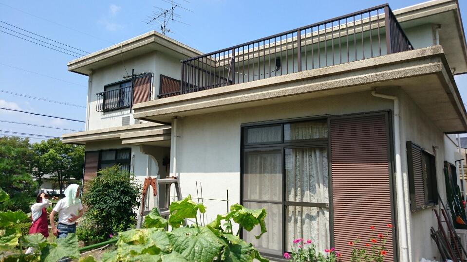 京都府外壁塗装施工前の写真