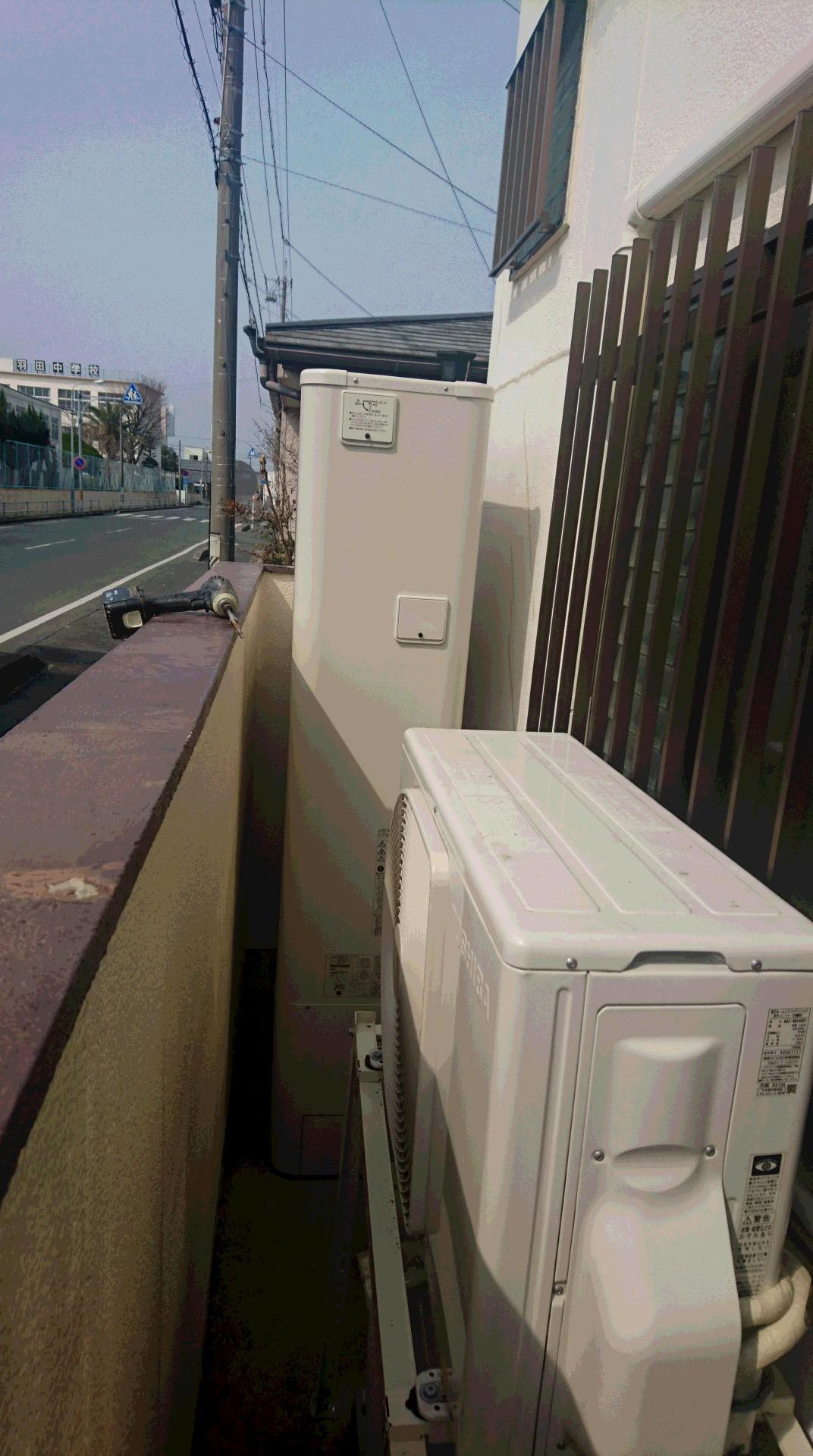 和歌山県東芝エコキュート(薄型)HWH-B375HW施工後の写真