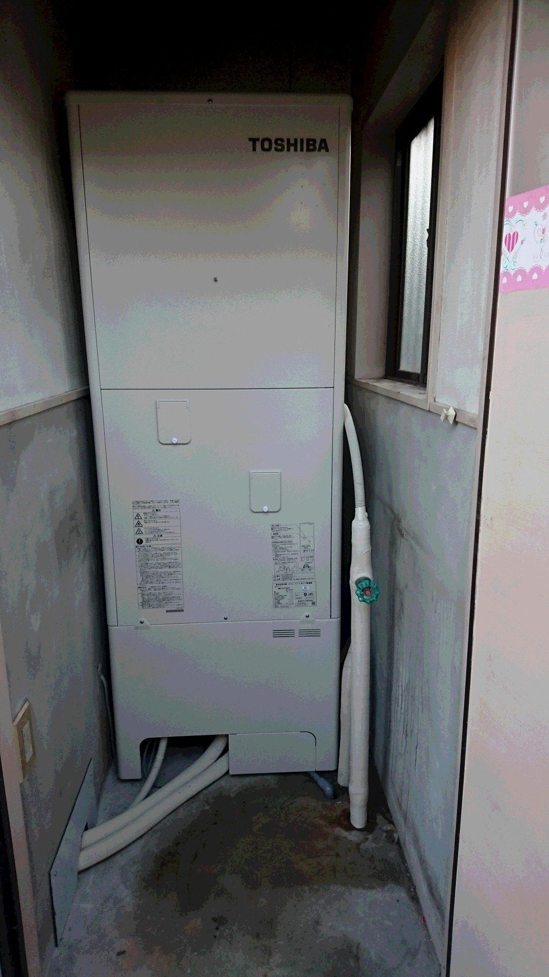兵庫県東芝エコキュートHWH-B375HA 施工後の写真