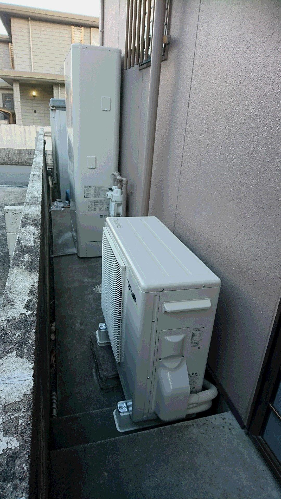 和歌山県東芝エコキュートHWH-B375HWV施工後の写真