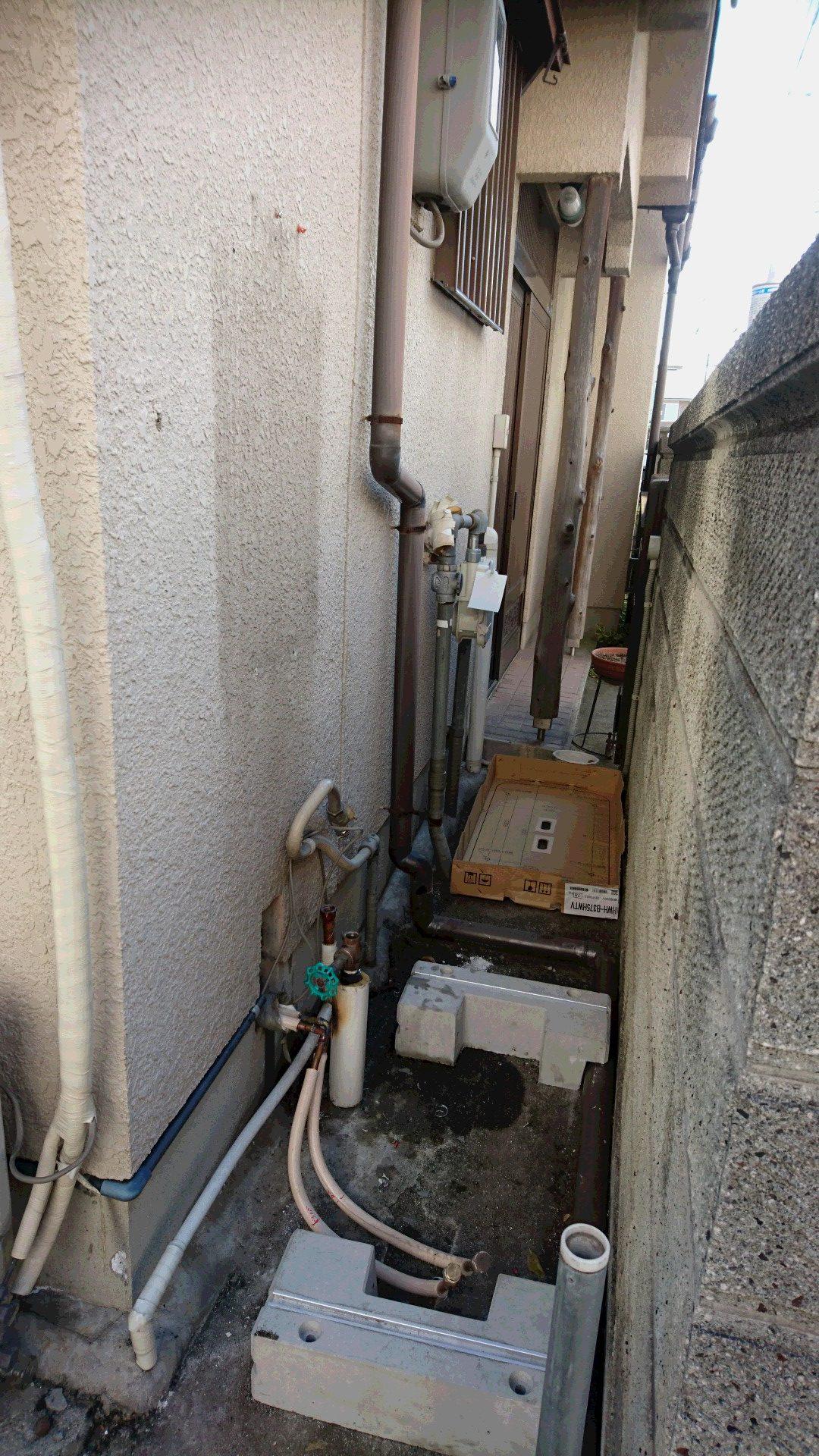 兵庫県東芝エコキュートHWH-B375HWV施工前の写真