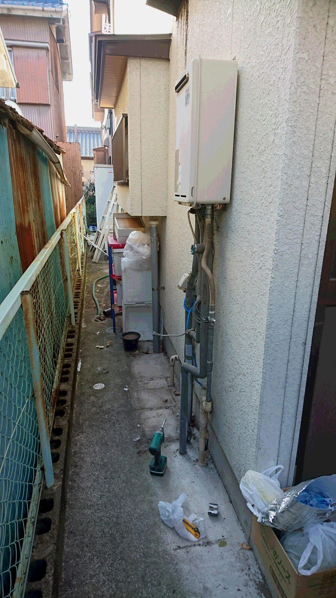 京都府東芝エコキュートHWH-B375HWV施工前の写真