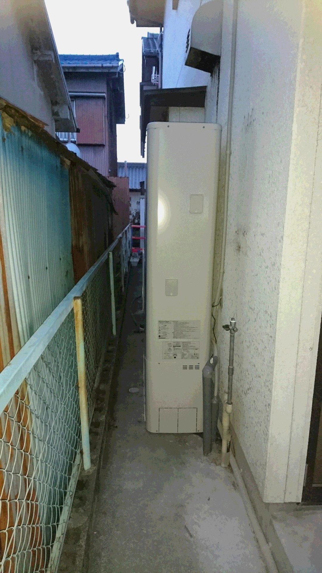 京都府東芝エコキュートHWH-B375HWV施工後の写真