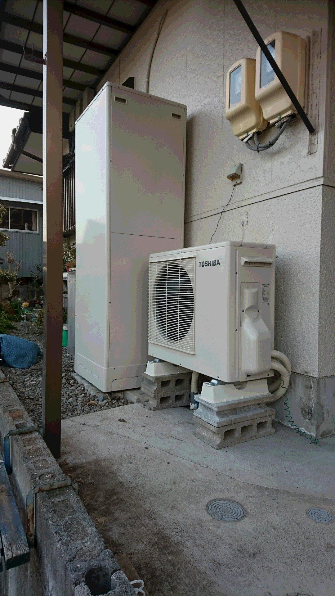京都府東芝エコキュートHWH-B465HA施工後の写真