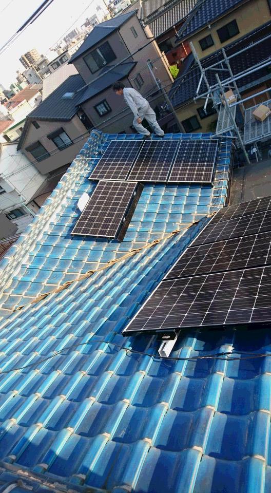 滋賀県三菱太陽光パネル 26枚PV-MA2250M施工後の写真