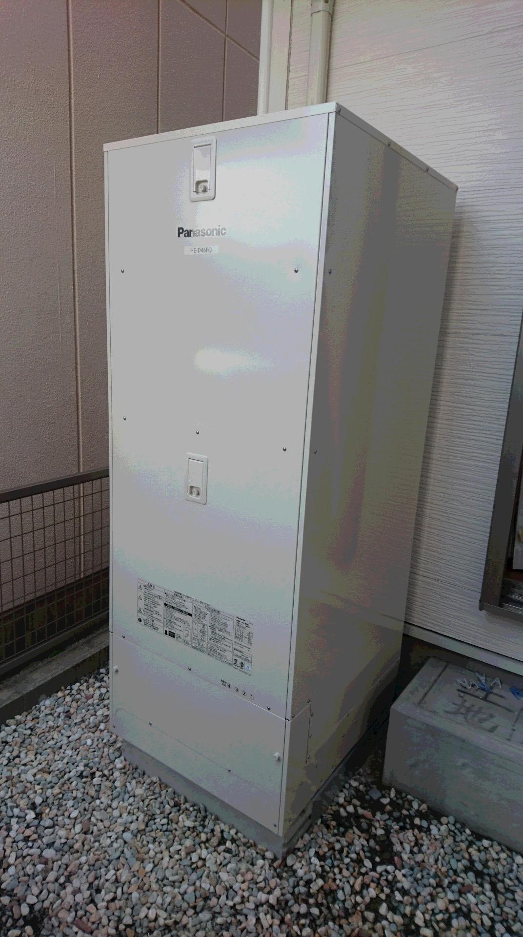 和歌山県PanasonicエコキュートHE-D46FQS三菱IHクッキングヒーターCS-PT316HNSR施工後の写真