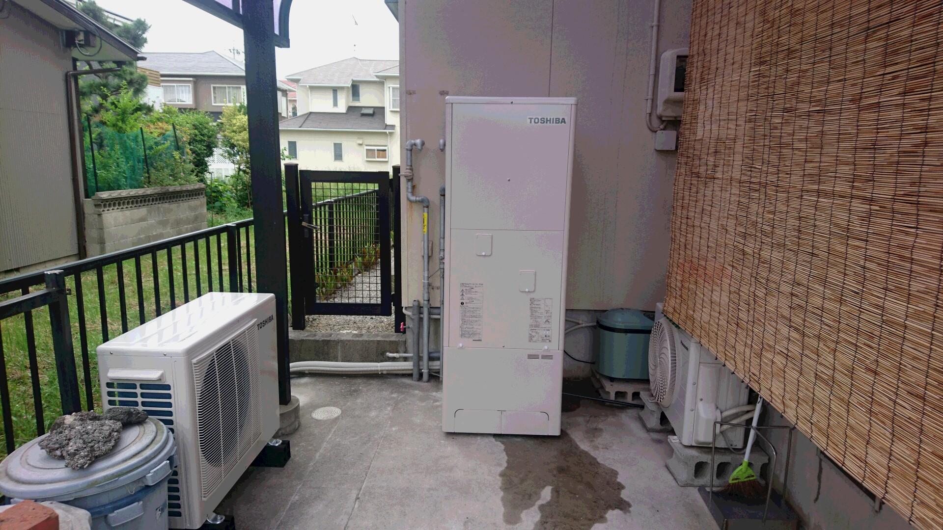 滋賀県東芝エコキュートHWH-B375HA施工後の写真