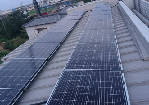 奈良県長州太陽光パネル 18枚CS-274B61施工後その他の写真1