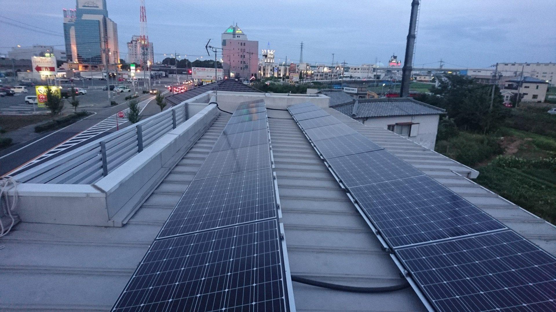 奈良県長州太陽光パネル 18枚CS-274B61施工後の写真