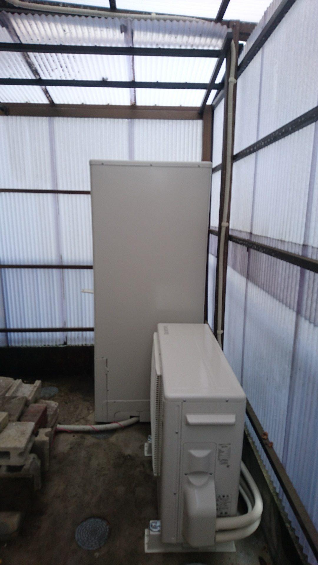 愛知県東芝エコキュートHWH-F375H施工後の写真
