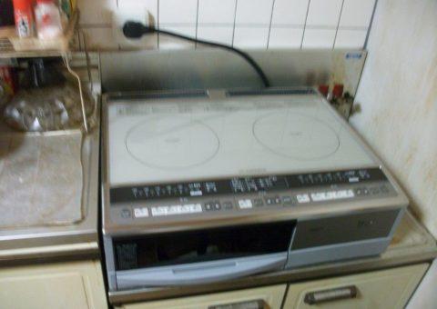 大阪府日立IHクッキングヒーター(据置型)HT330S施工後その他の写真4
