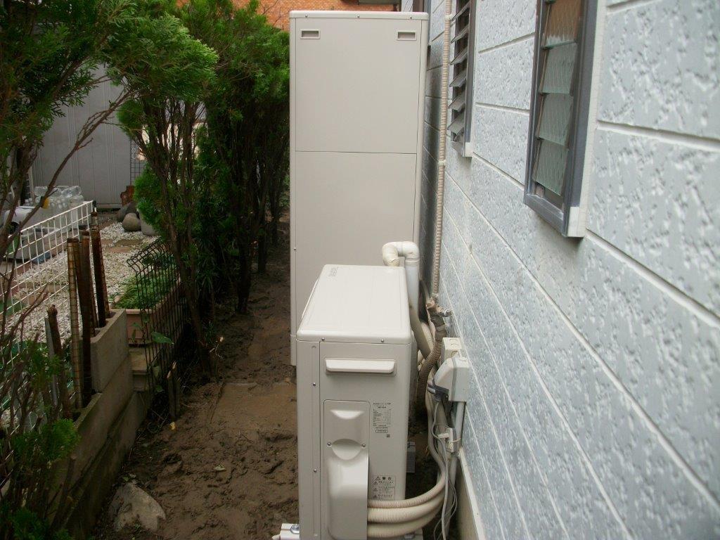三重県東芝エコキュートHWH-B374施工後の写真