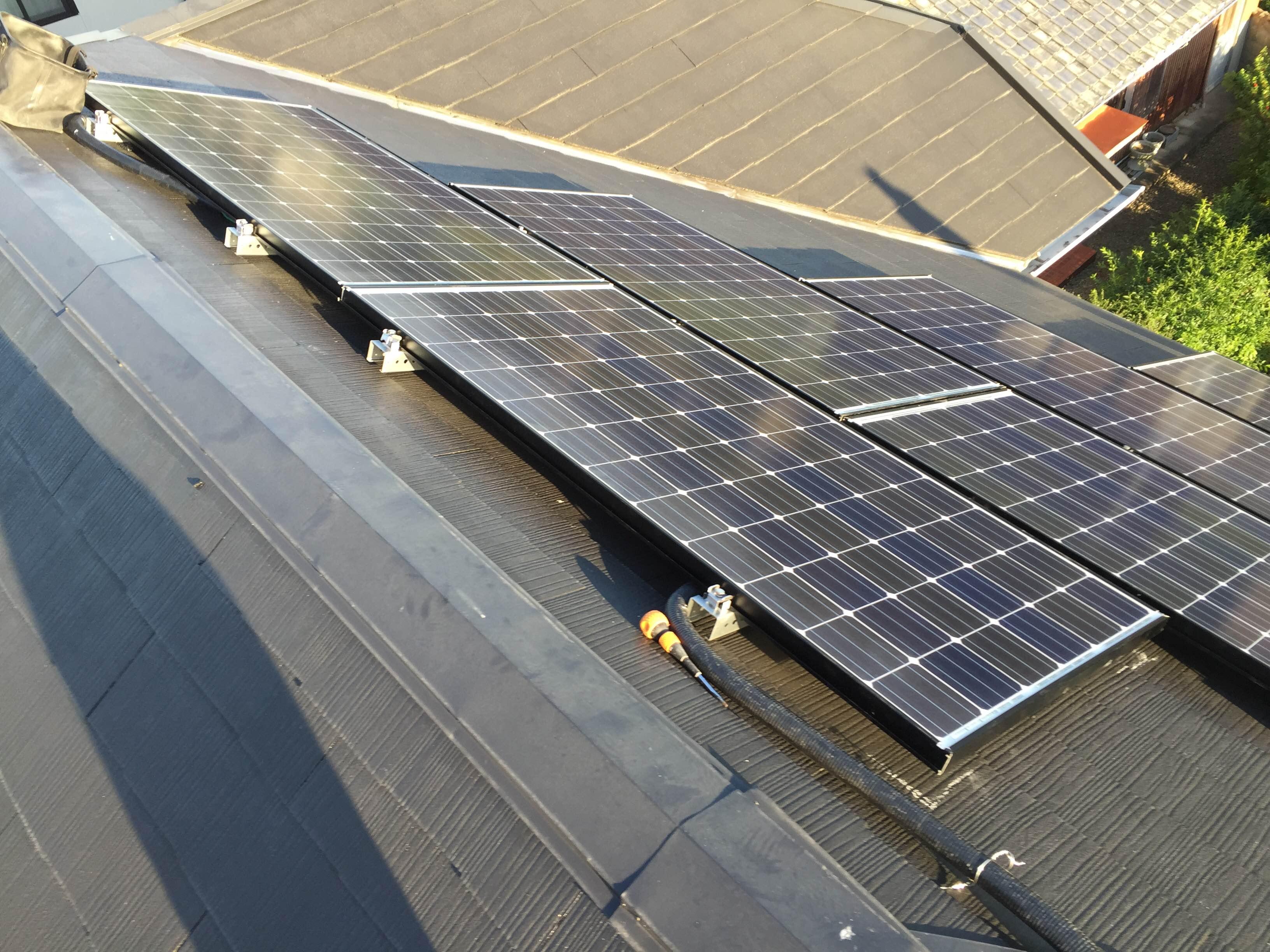 兵庫県長州産業太陽光発電CS-N244SJ03施工後の写真
