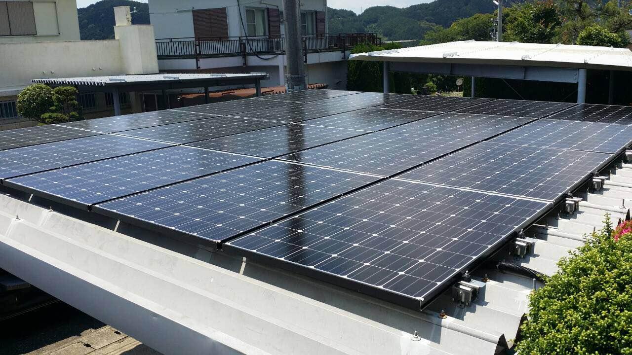 兵庫県長州産業太陽光発電CS-246B61施工前の写真