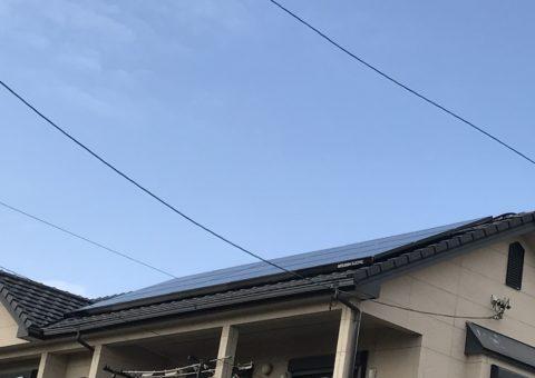 愛知県三菱太陽光パネル 15枚PV-MA2250M施工後その他の写真3
