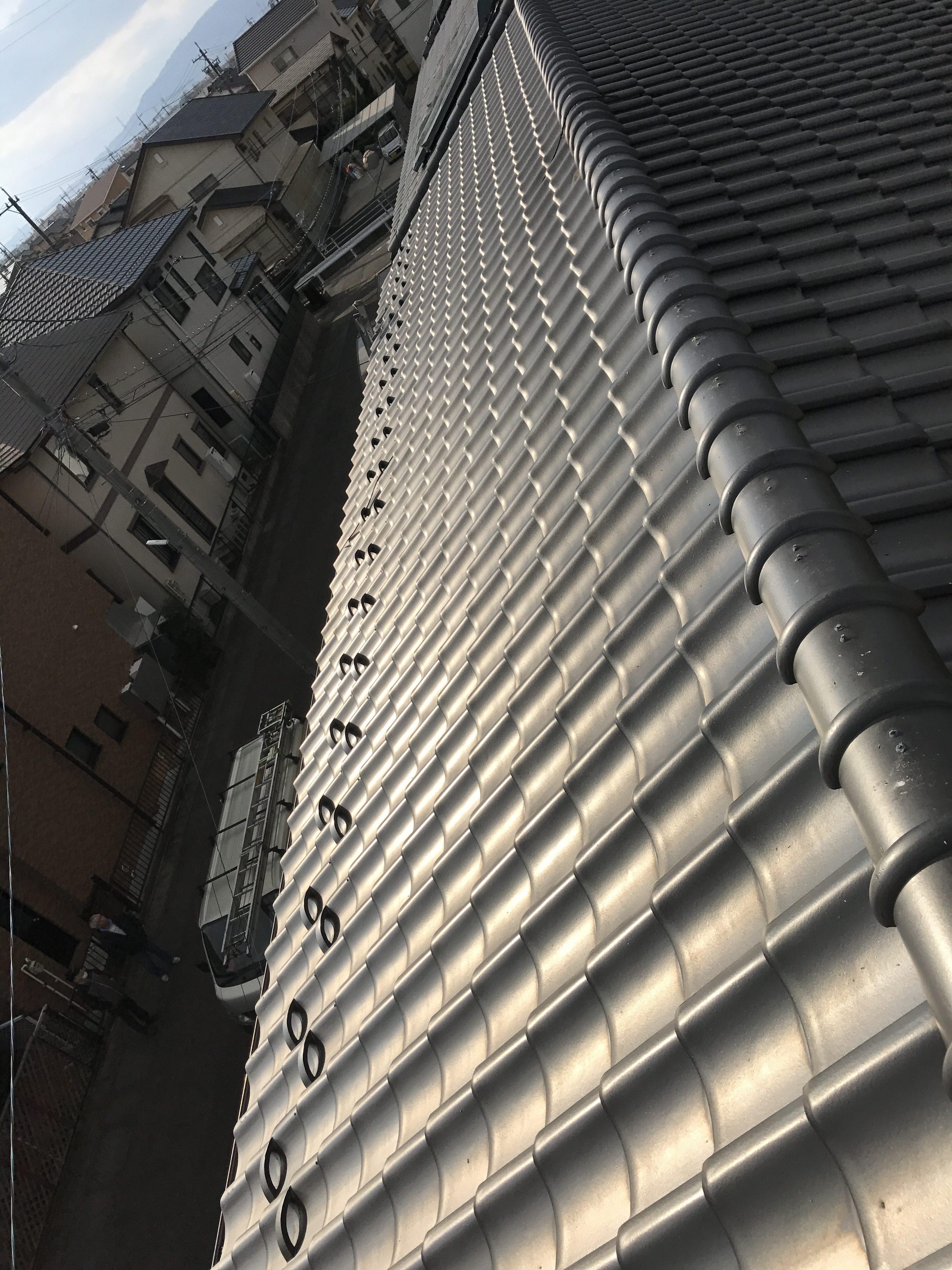 大阪府三菱太陽光パネル 21枚PV-MA2250M施工前の写真