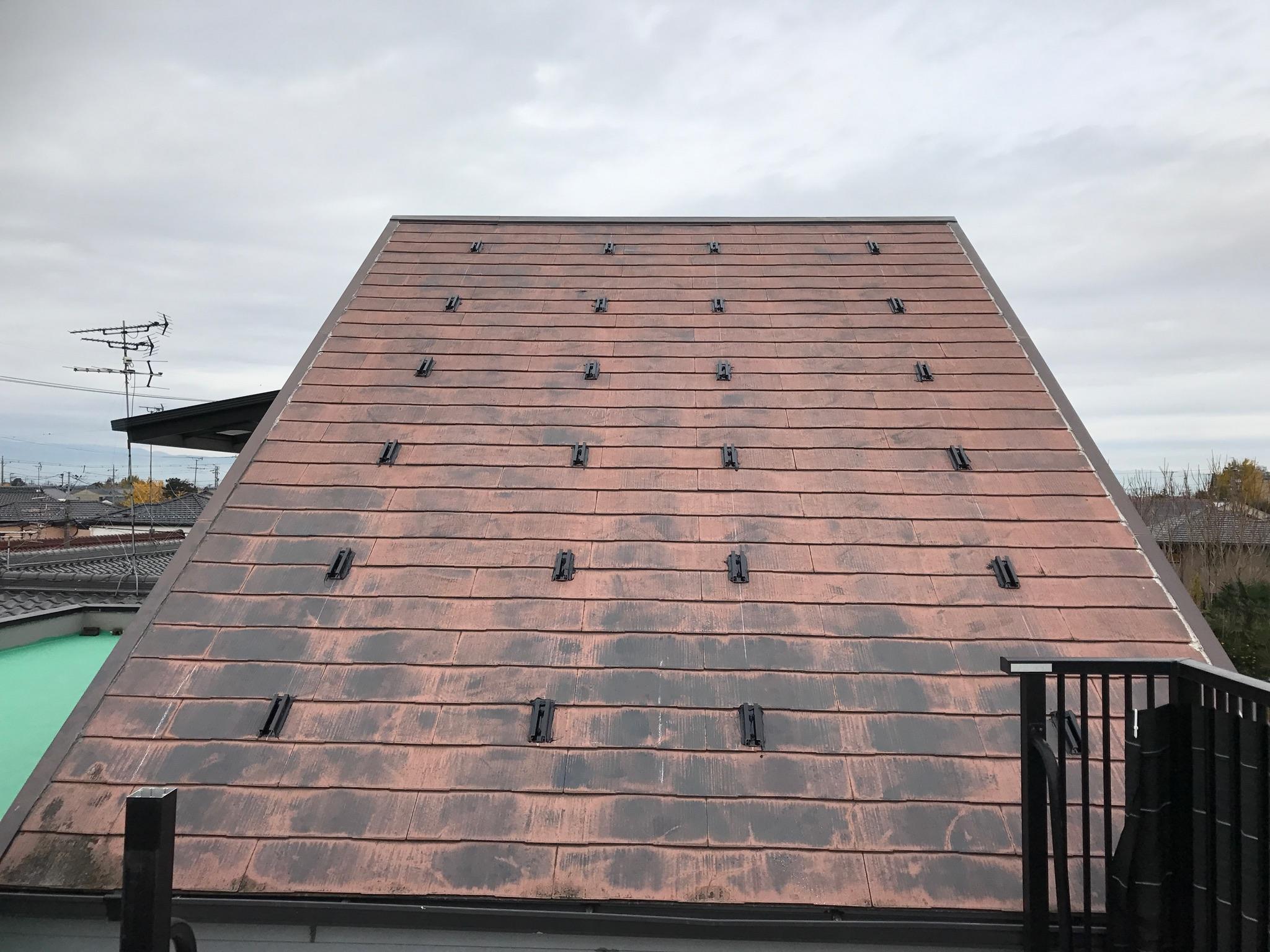 滋賀県三菱太陽光パネル 10PV-MA2250M施工前の写真