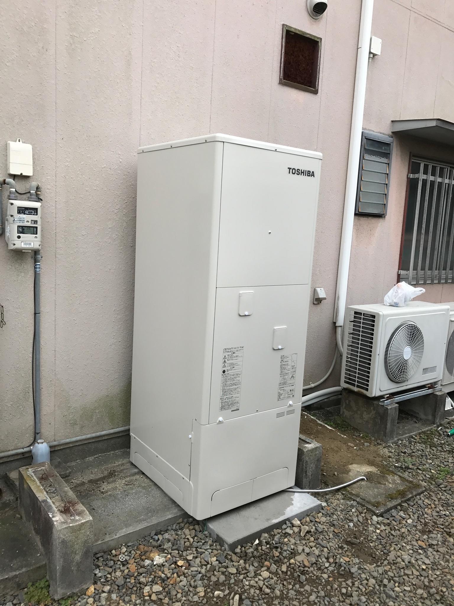 京都府東芝エコキュートHWH-B375H施工後の写真