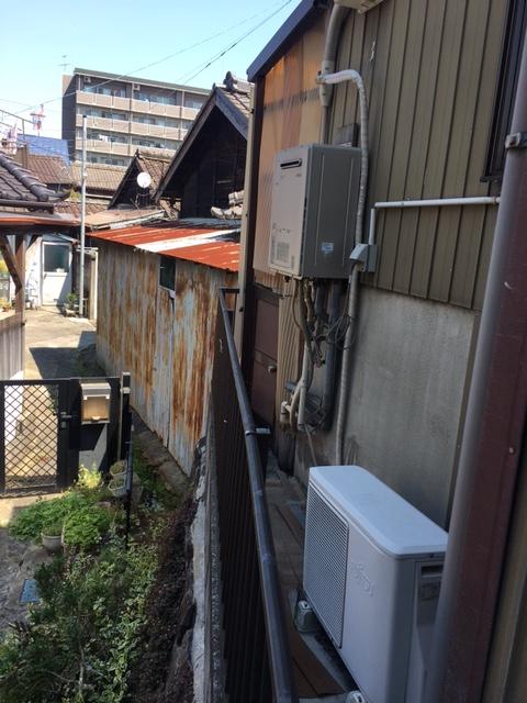 和歌山県東芝エコキュートHWH-B375H施工前の写真