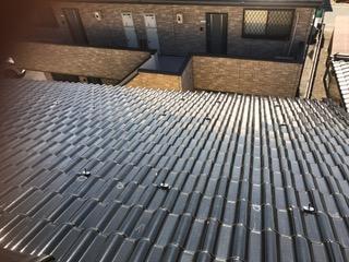 京都府三菱太陽光パネル 16枚PV-MA2250M施工前の写真