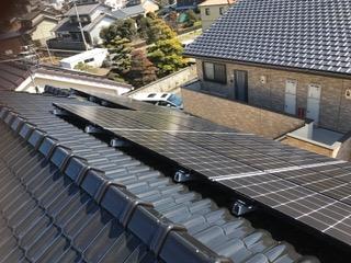 京都府三菱太陽光パネル 16枚PV-MA2250M施工後その他の写真1