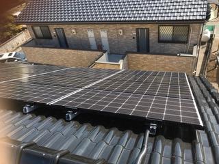 京都府三菱太陽光パネル 16枚PV-MA2250M施工後の写真