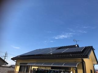 京都府三菱太陽光パネル 16枚PV-MA2250M施工後その他の写真3