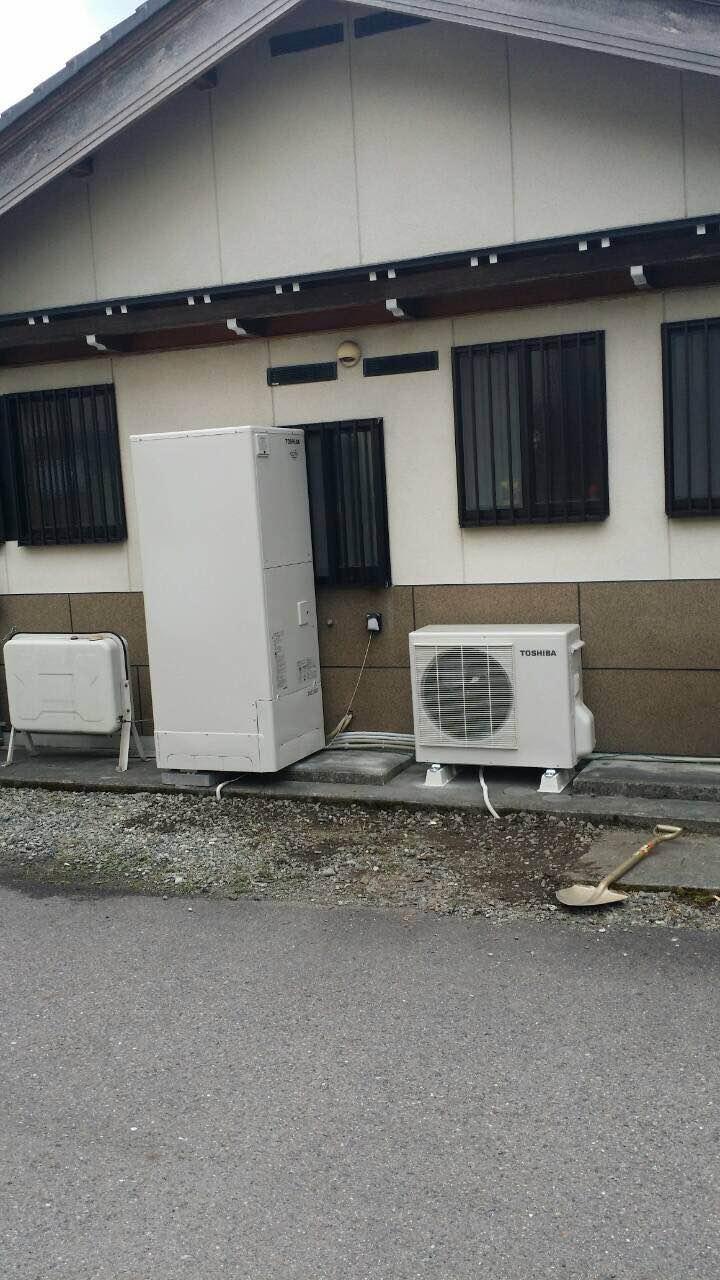 京都府東芝エコキュートHWH-FBH373CG施工後の写真