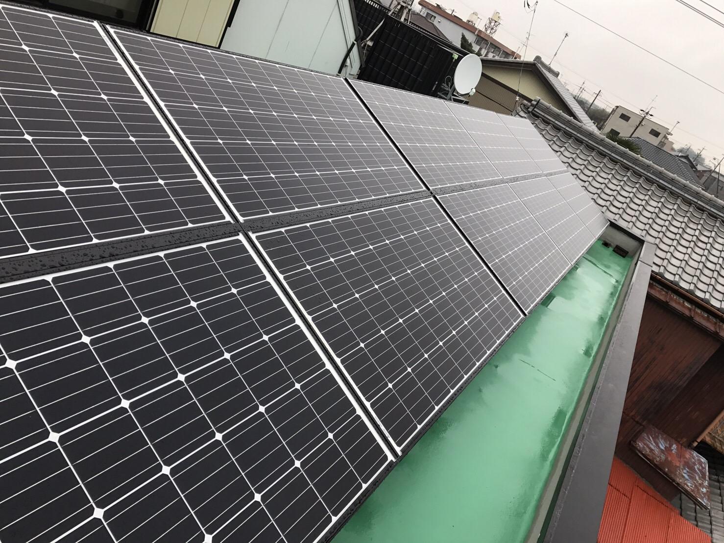 兵庫県三菱太陽光パネル 20枚PV-MA2250M施工後の写真