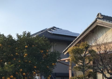 奈良県三菱太陽光パネル 19枚PV-MA2250M施工後その他の写真3