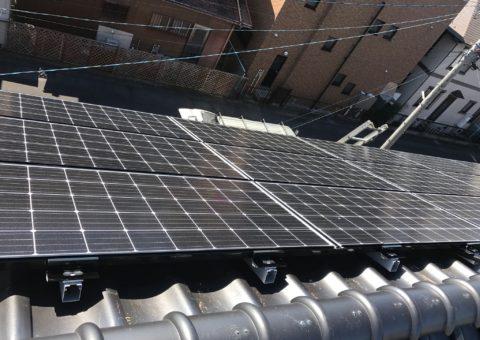 大阪府三菱太陽光パネル 21枚PV-MA2250M施工後その他の写真1