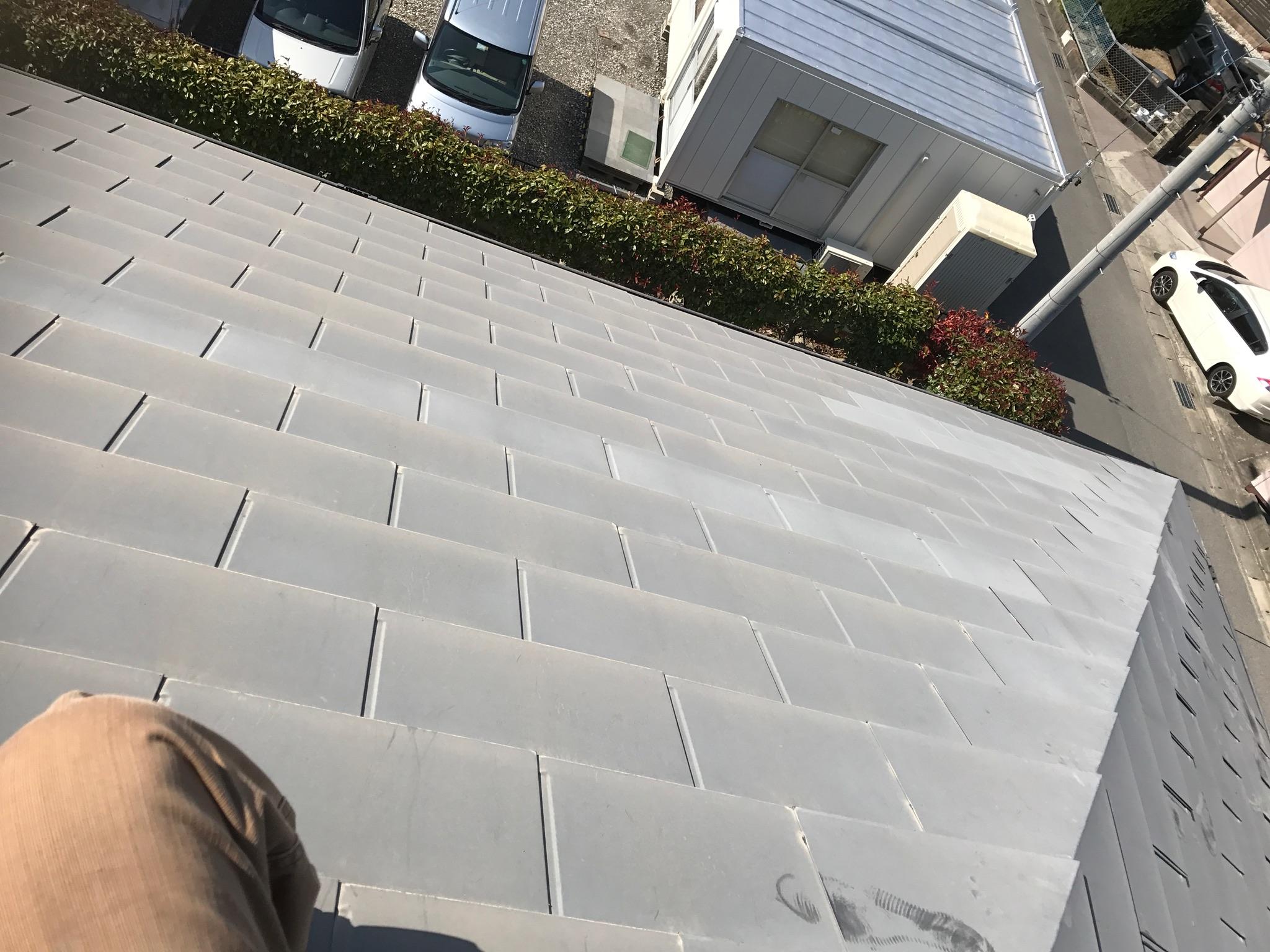 大阪府三菱太陽光パネル 19枚PV-MA2250M施工前の写真