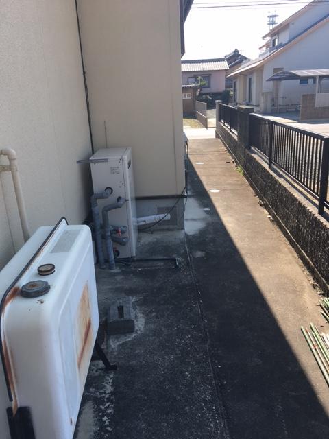 愛知県東芝エコキュートHWH-B375H施工前の写真
