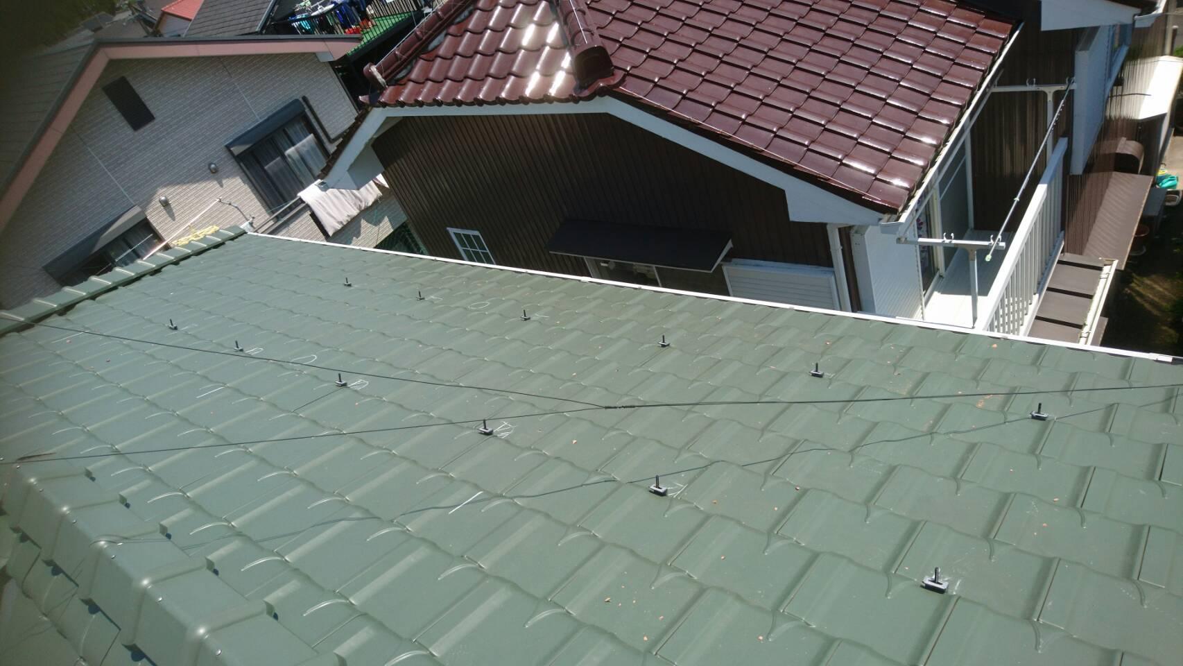 三重県三菱太陽光パネル 10枚PV-MA2250M施工前の写真