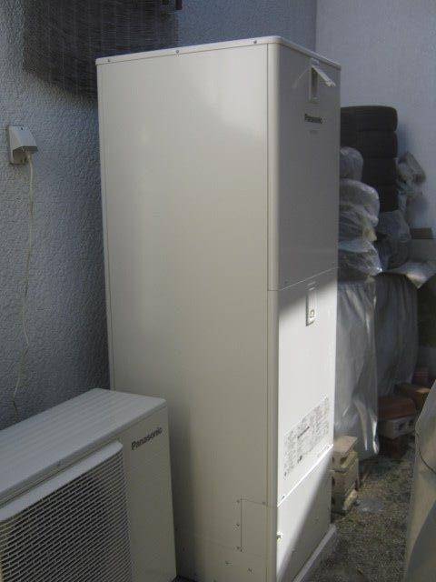 愛知県Panasonicエコキュート(床暖対応)HE-D37FQS施工後の写真