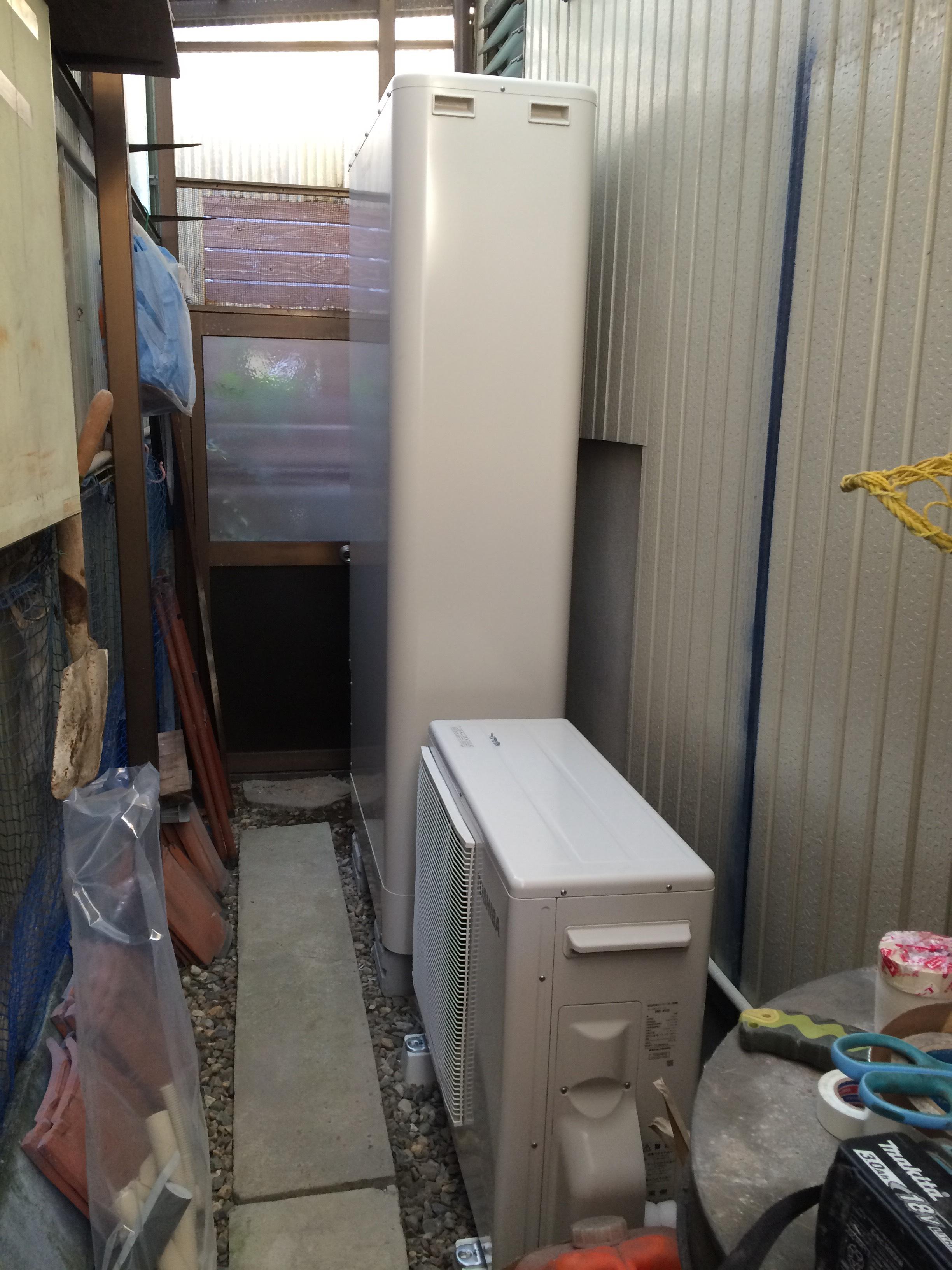 兵庫県東芝エコキュートHWH-B375HWV施工後の写真