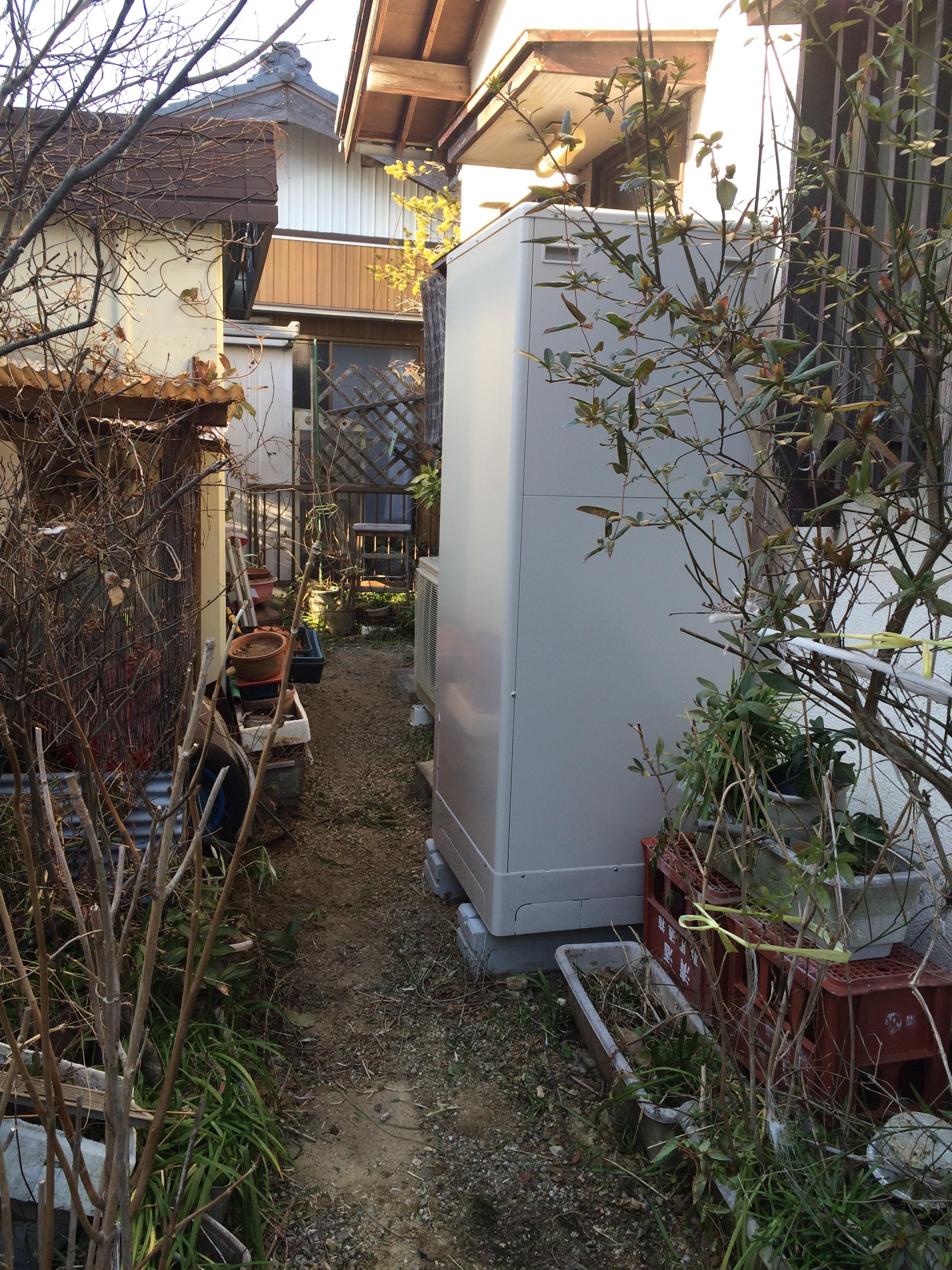 和歌山県東芝エコキュートHWH-B375HA施工後の写真