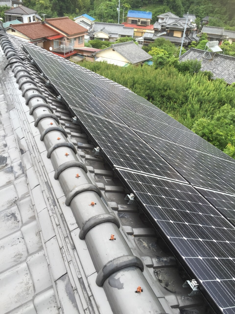 兵庫県長州産業太陽光発電CS-246B41施工後の写真