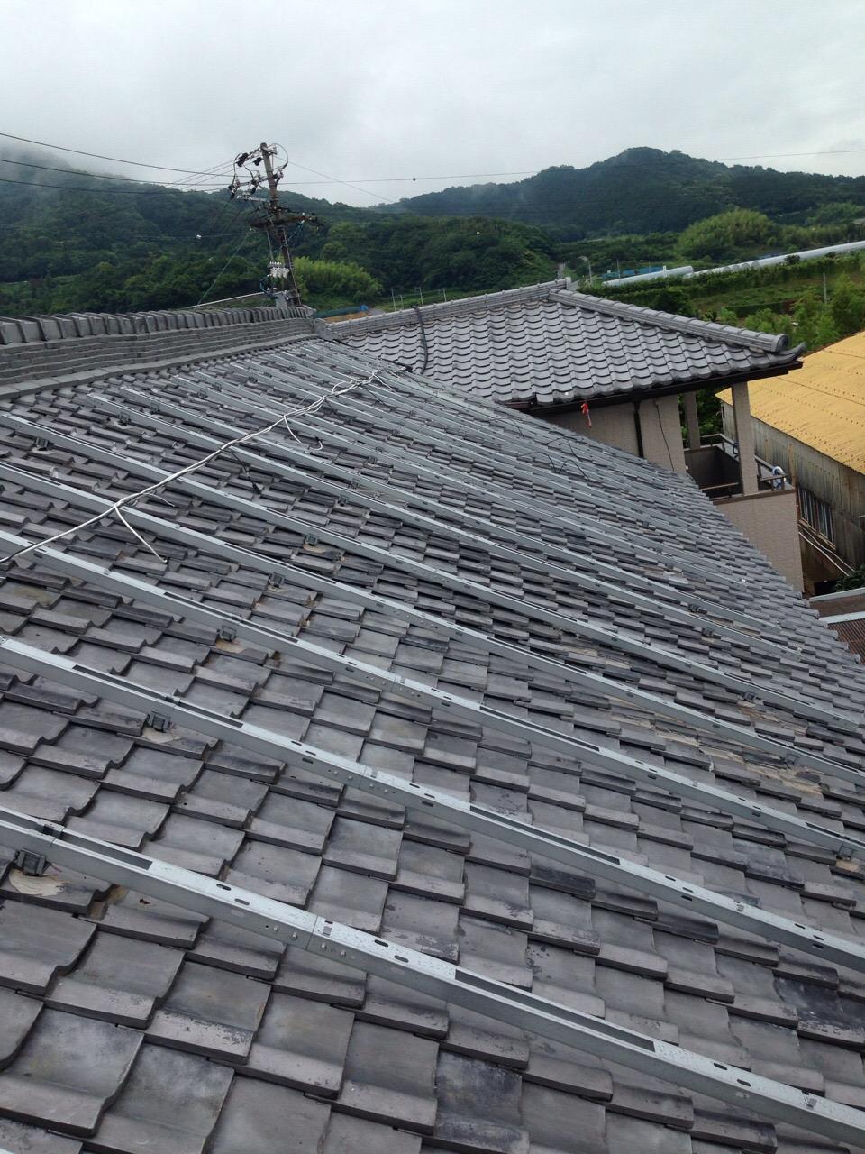 兵庫県長州産業太陽光発電CS-246B41施工前の写真