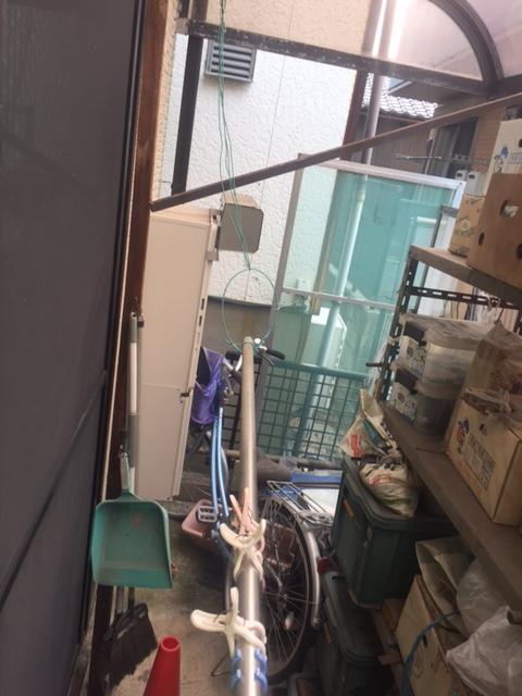 大阪府東芝エコキュートHWH-B375H三菱IHクッキングヒーターCS-G32M施工前の写真