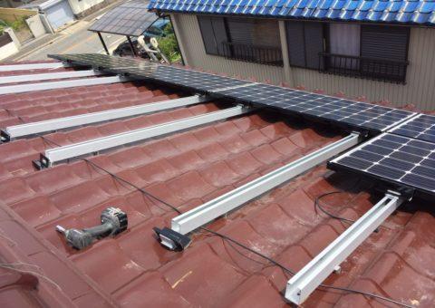 愛知県三菱太陽光パネル 12枚PV-MA2180K施工後その他の写真1