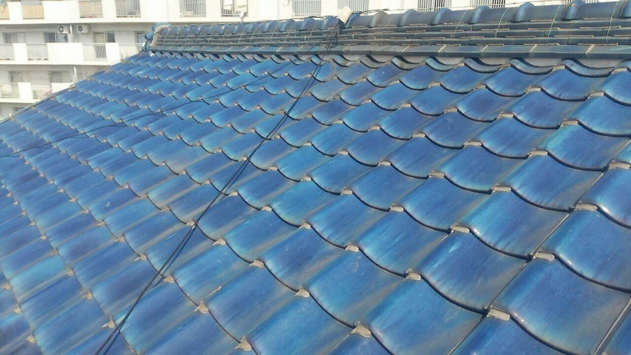 和歌山県三菱太陽光パネル 6枚PV-MA2180K 施工前の写真
